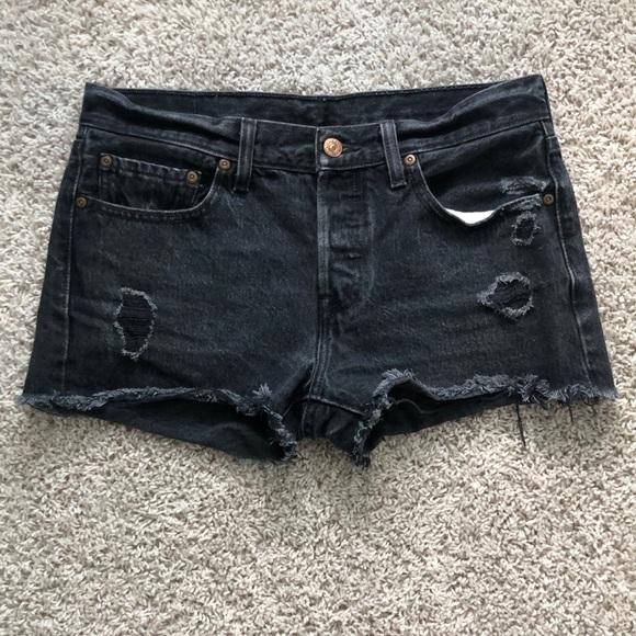 Levi's Pants - Levi's Distressed Cutoff Shorts